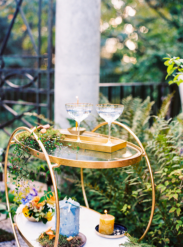Details of wedding lounge filled with flowers by wedding designer Andreea Bucur